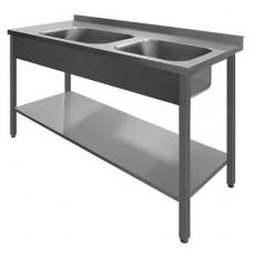 N/T galds 1400*700 ar 2 izlietnēm un plauktu
